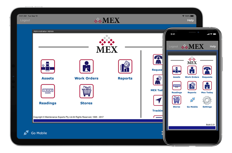 MEX App on iOS Devices