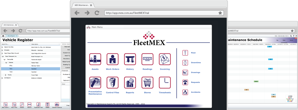 FleetMEX Screens