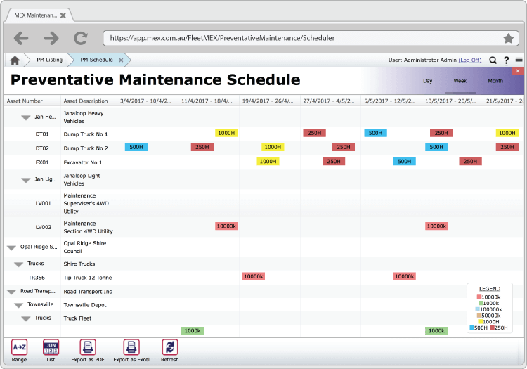 FleetMEX PM Scheduler Preview