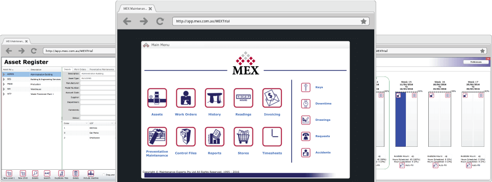 MEX Main Menu, Assets and PM
